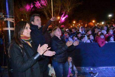 Mayol recibió a Massa y juntos compartieron agenda política además de un acto festivo