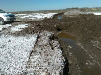 San Luis Agua realiza maniobras de remediaci�n en zonas anegadas por los r�os nuevos