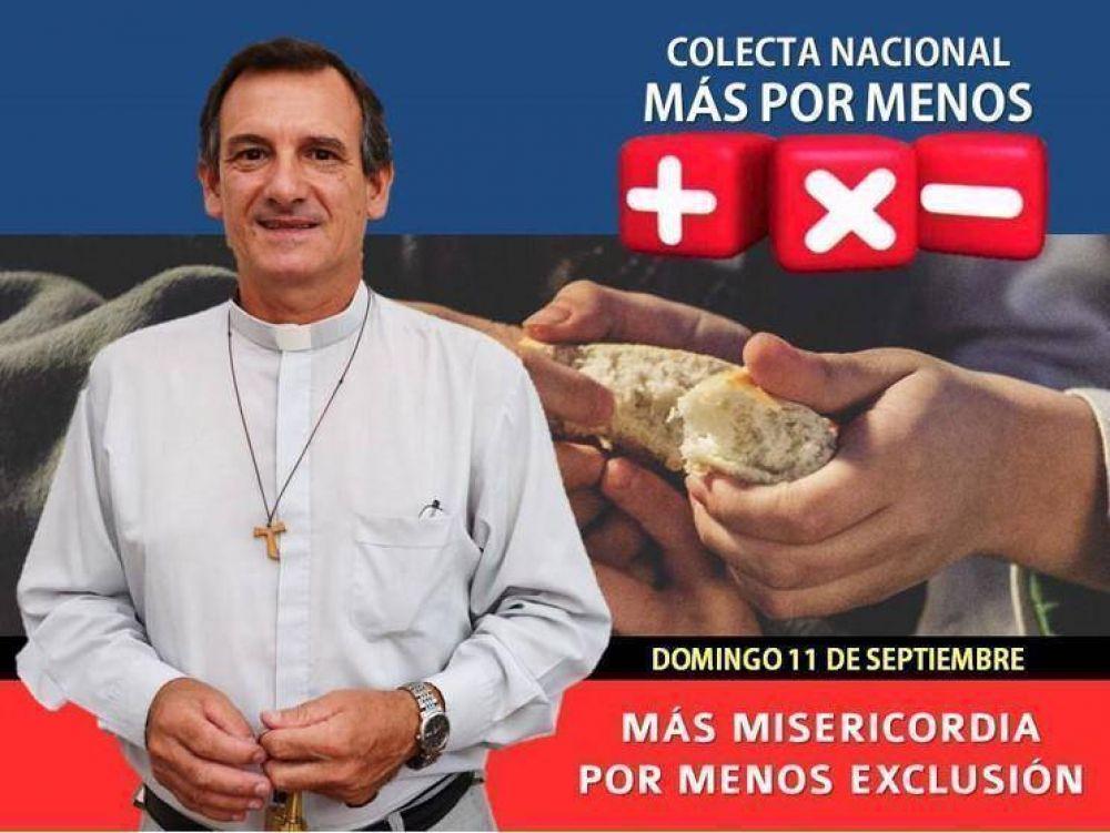 """Colecta """"Más por menos"""": Monseñor Canecín pidió """"un compromiso sincero con los pobres y excluidos"""""""