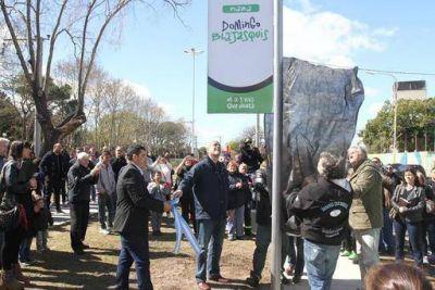 Una obra por semana: Ferraresi inauguró corredor verde y homenajeó a sindicalistas históricos