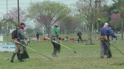 La Comuna ejecuta trabajos integrales en principales accesos y espacios verdes de la ciudad