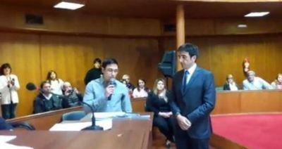 Juró Aldo Exposito como Intendente interino hasta que dure la licencia de Gatica