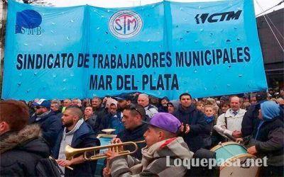Municipales marcharon contra el pago desdoblado del municipio