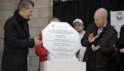 Macri y Larreta inauguraron el Centro de Transferencia de Soldati