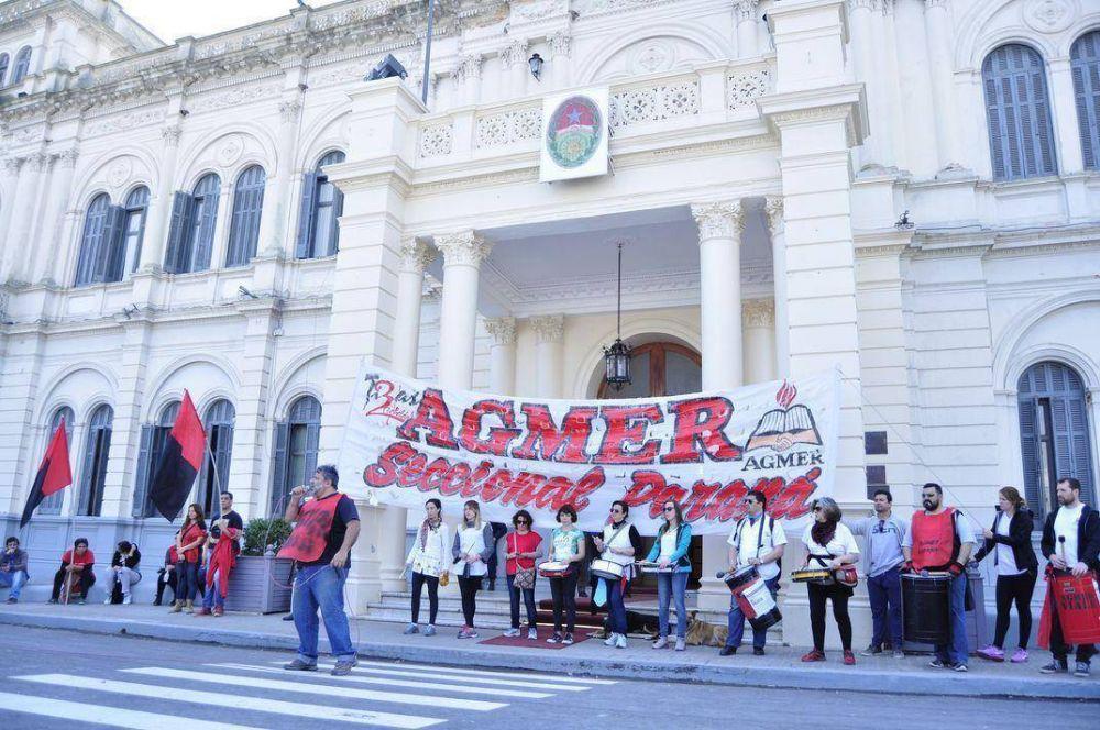 Agmer Paraná dispuso la realización de asambleas este viernes y el lunes
