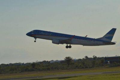 Aerolíneas acrecentó vuelos en la región