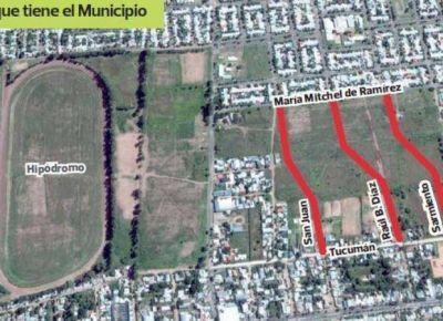 La Municipalidad de San Luis extenderá tres calles en el norte de la ciudad