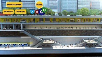 Avanza el mega proyecto de la estación de trenes debajo del Obelisco