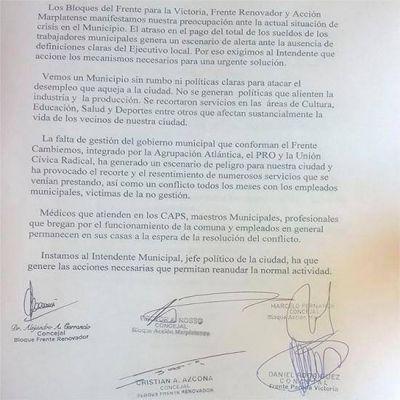 Concejales opositores expresaron su preocupaci�n por la crisis pol�tica del municipio