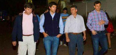 Garc�a de Luca visit� Bol�var y recorri� las obras junto al intendente