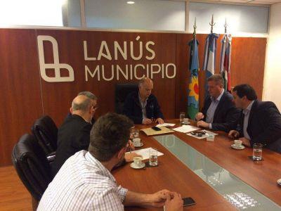 Lan�s: Grindetti y Milman firmaron el convenio de asistencia en seguridad