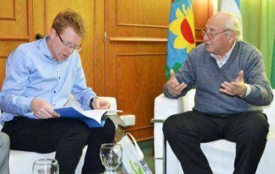 El intendente de Tres Lomas ofreci� al presidente del Banco Provincia terreno para un nuevo edificio