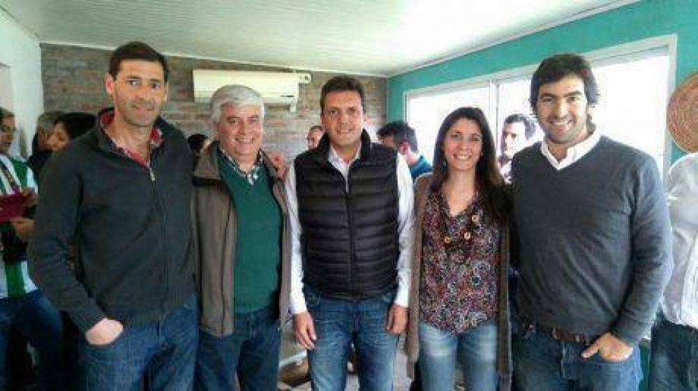 Sergio Massa en reunión de la 4° Sección: asistieron dirigentes de Trenque Lauquen