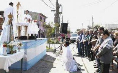Grindetti asistió a la misa por el aniversario de Monte Chingolo