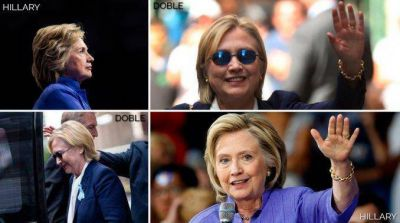 De película: crece el rumor de que Hillary Clinton estaría usando una doble
