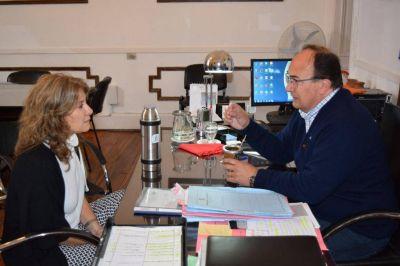El Intendente Salomón recibió en su despacho a la Diputada Provincial Dra. Alejandra Lorden
