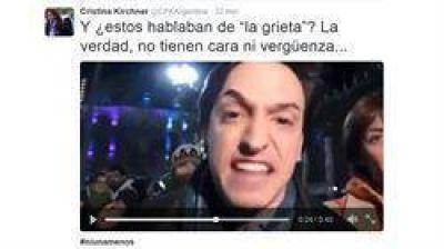 Cristina Kirchner denunció que un funcionario nombrado por Gabriela Michetti la insultó en un video
