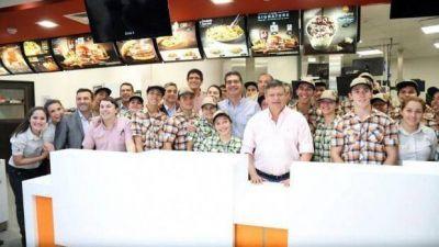 Peppo destacó la inauguración de McDonalds 'como fomento a la economía local'