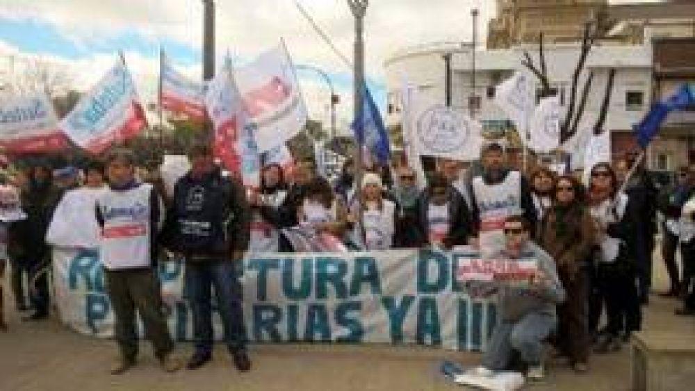 Suteba y FEB se movilizaron en Chivilcoy durante la Jornada de Protesta Provincial