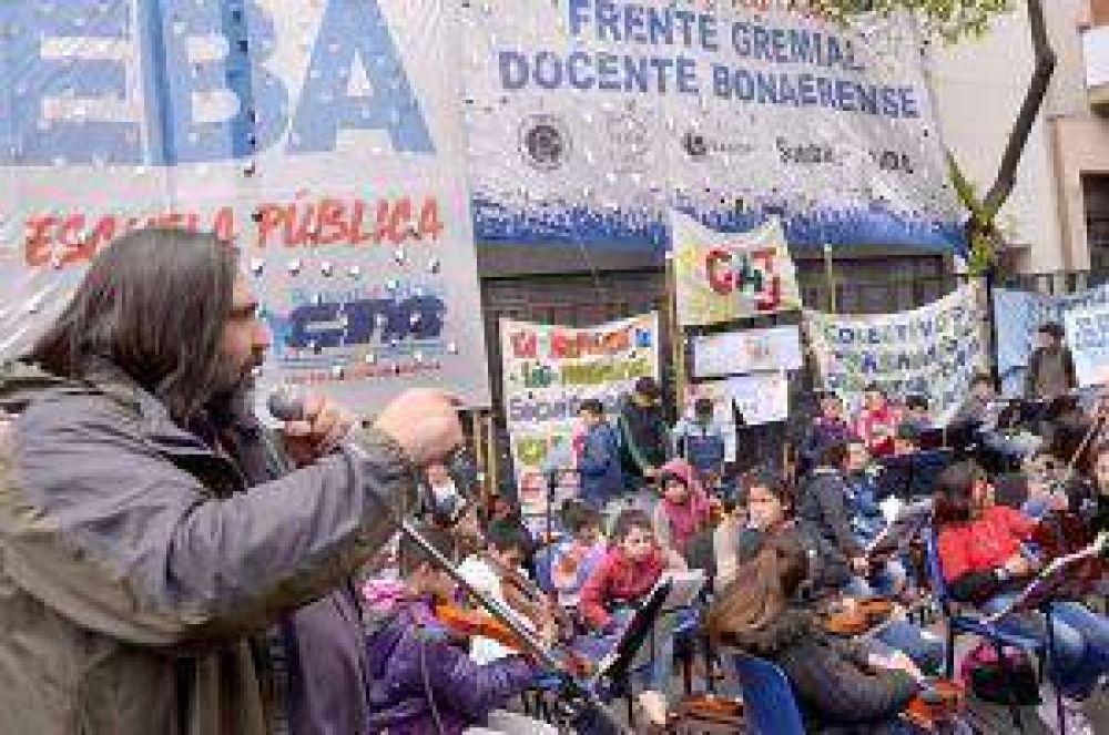 Docentes de Junín participaron de la jornada de protesta del Frente Gremial
