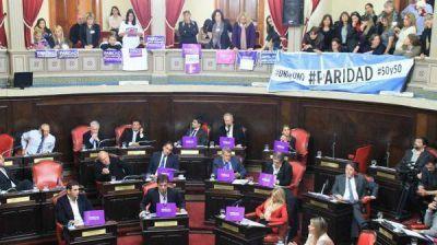 El Senado bonaerense votó por unanimidad el proyecto de paridad de género