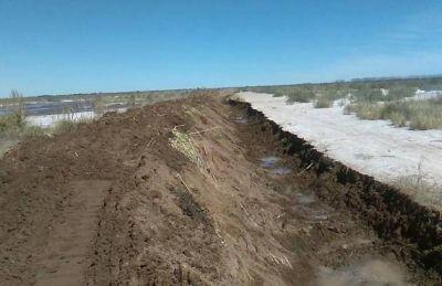 San Luis Agua finalizó el refuerzo del talud sobre la zona norte