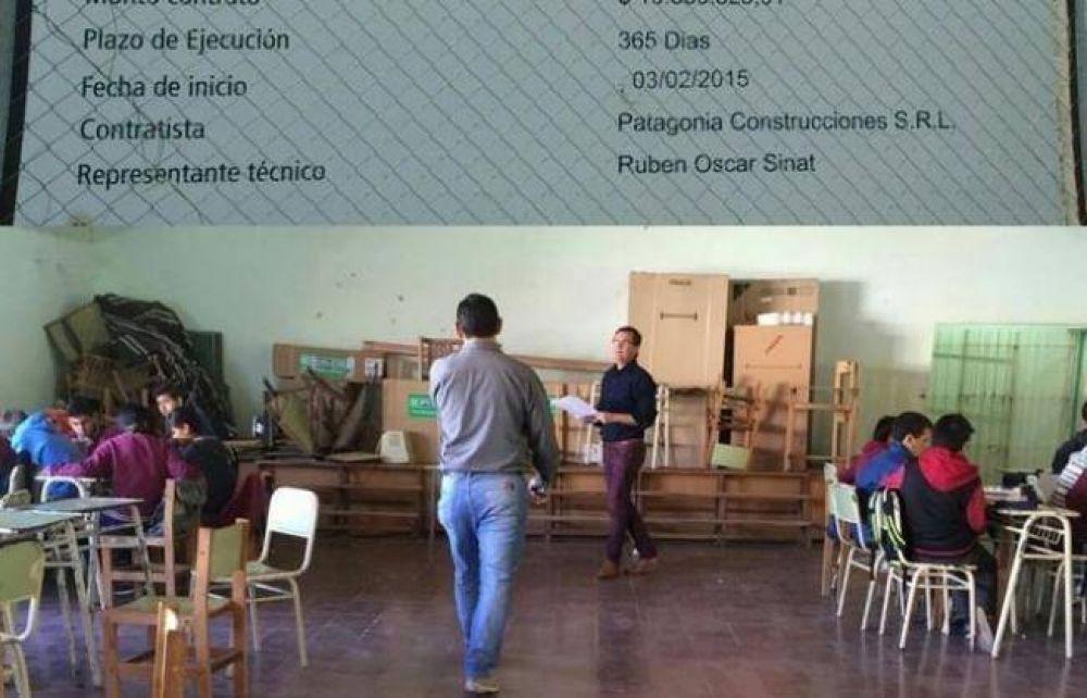 Gutiérrez denuncia irregularidades en la construcción de una escuela