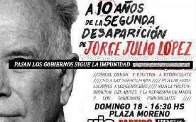 Marcha a 10 años de la segunda desaparición de Julio López