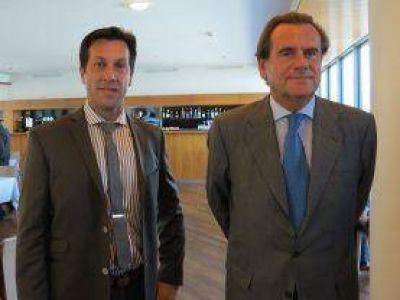 El Presidente de Puerto Quequén junto al Presidente del Puerto de Barcelona