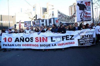 Miles de personas se movilizaron en La Plata a diez años de la desaparición de Julio López