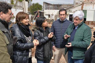 Andreotti recorri� las obras del nuevo edificio de Salud y Medio Ambiente