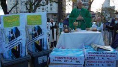 El Arzobispado en la ruta de Francisco: misa contra la trata