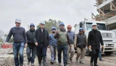 El jefe de Gobierno porte�o, Horacio Rodr�guez Larreta, recorri� las obras de la Villa Ol�mpica, futura sede de los Juegos Ol�mpicos de la Juventud Buenos Aires 2018.
