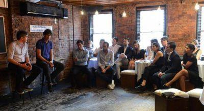 Marcos sumó a Lousteau a una charla con jóvenes en Nueva York