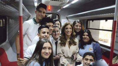 Claudia de Zamora inauguró el primer tramo del Tren al Desarrollo