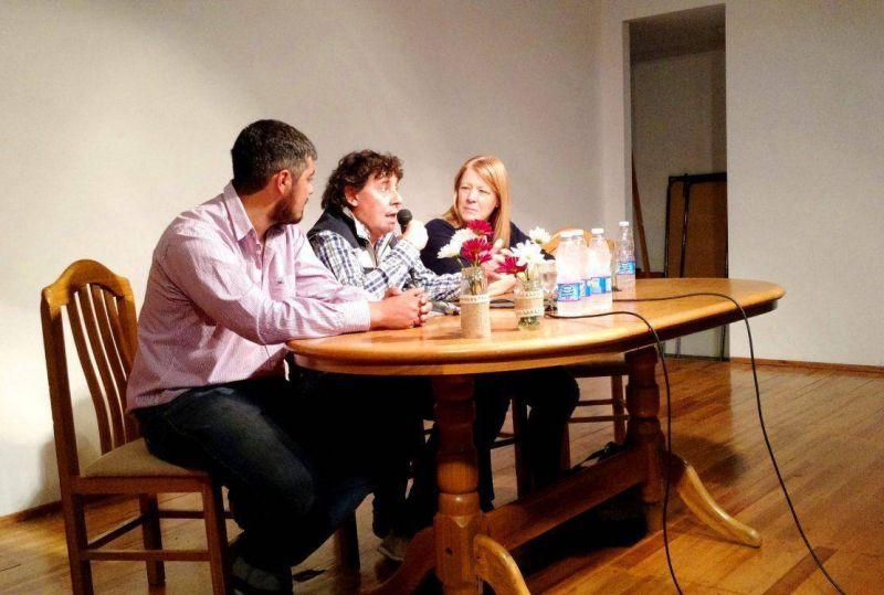 Pablo Micheli y Margarita Stolbizer dieron una charla para j�venes en Trenque Lauquen