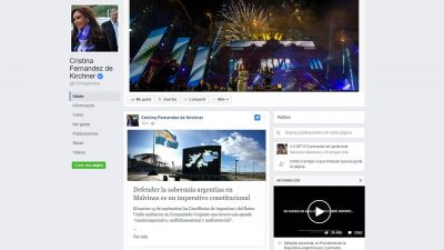 Cristina Elisabet Kirchner critic� la declaraci�n conjunta del Gobierno con Gran Breta�a
