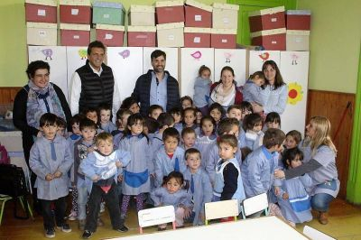 Massa y Echarren realizaron actividades en Castelli
