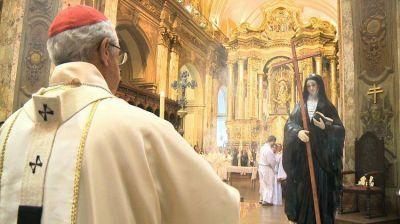 El cardenal Poli destacó la confianza en Dios de Mama Antula para ser misionera y peregrina