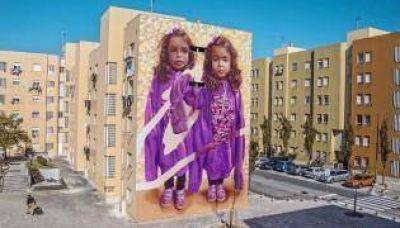 Gran despliegue de arte urbano en las calles de La Boca
