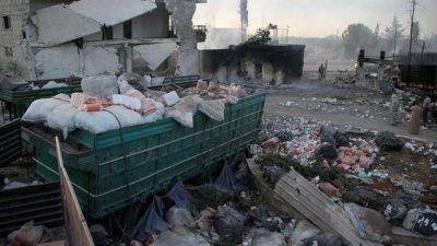 La ONU suspende la ayuda humanitaria a Siria después del ataque a un convoy