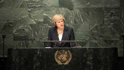 Frente a la crisis migratoria, Theresa May defendi� el derecho del Reino Unido a controlar sus fronteras