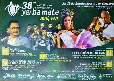 Presentaron el cronograma de actividades de la 38º Fiesta Nacional de la Yerba Mate