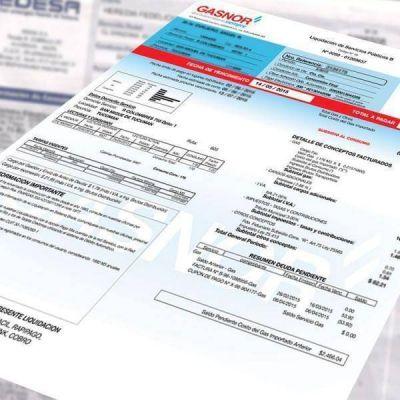Gasnor comienza a emitir las tarifas sin el aumento