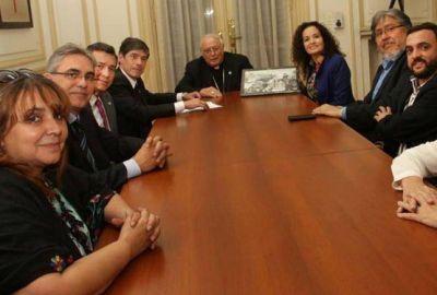 Mons. Arancedo recibió a legisladores nacionales del Movimiento Evita