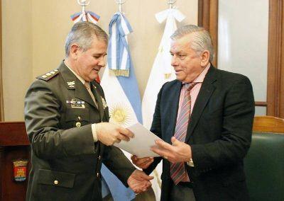 El intendente Infante recibió la visita de autoridades de Gendarmería Nacional