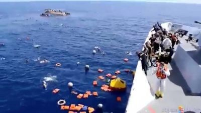 Drama en el Mediterráneo: naufragó un barco 600 refugiados