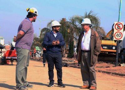 Mussi y el presidente de AySA recorrieron obra
