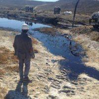Un derrame de 192 metros c�bicos de petr�leo afect� a Cerro Drag�n