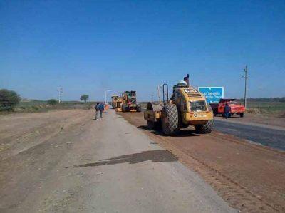 El miércoles recién se retomarían las obras en la ruta 304
